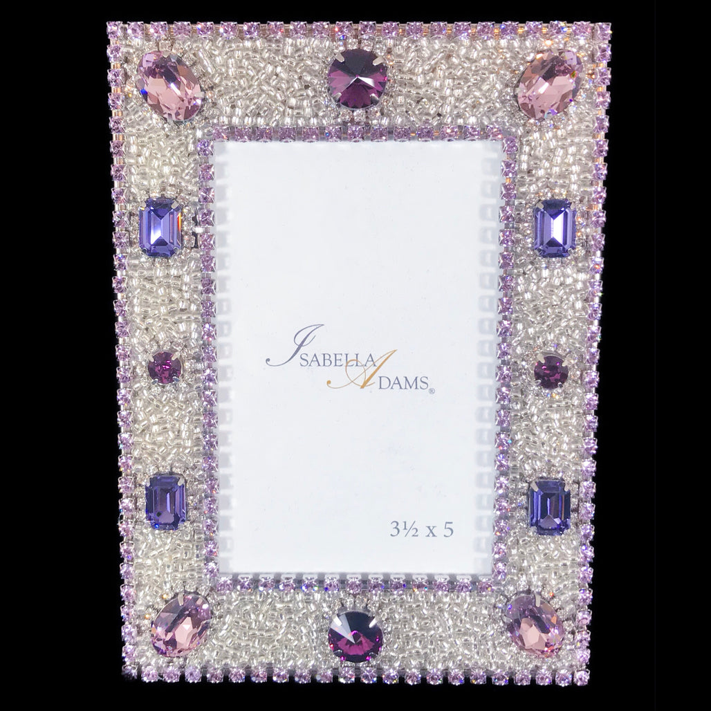 3.5 x 5 Violet Crystallized Picture Frame Featuring Swarovski © Crystal