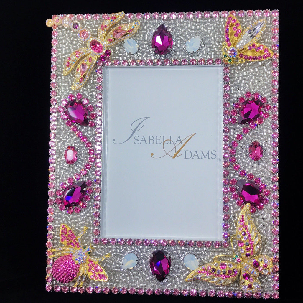 5 x 7 Rose Bug Picture Frame Featuring Swarovski © Crystals
