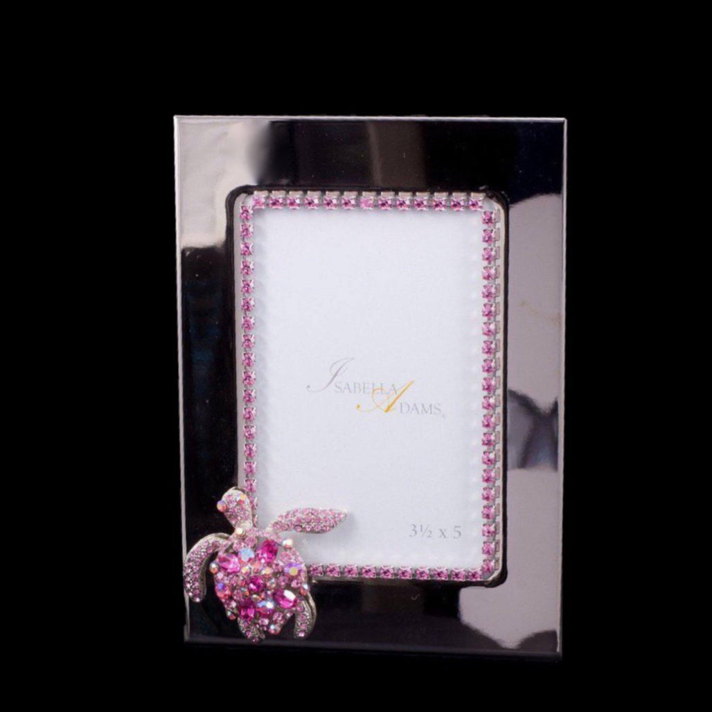 3.5 x 5 Turtle Picture Frame Featuring Swarovski © Crystals