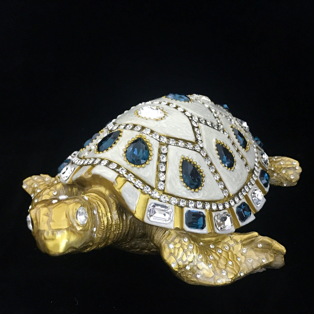 Mother of Pearl Sea Turtle Featuring Blue Mix Swarovski © Crystals