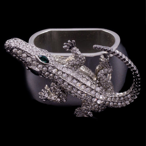 Alligator Napkin Ring Featuring Swarovski ® Crystal | Set of 4
