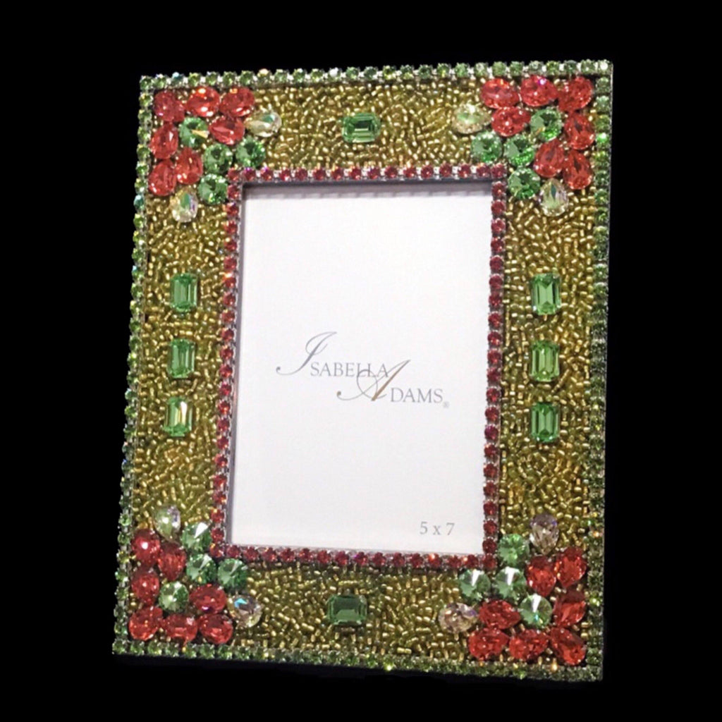 5 x 7 Picture Frame Featuring Multicolor Swarovski © Crystals