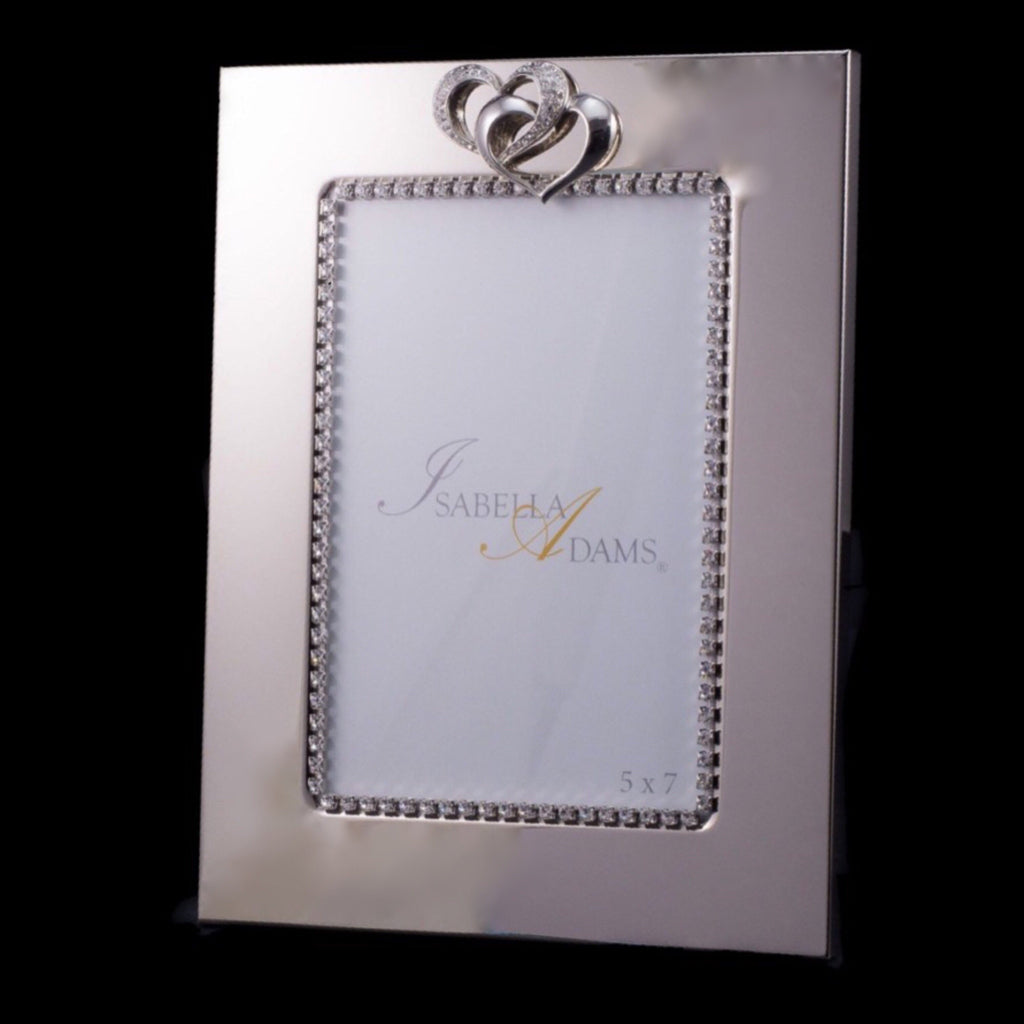 35 x 5 double hearts picture frame featuring swarovski 5 x 7 locking hearts picture frame featuring swarovski crystals jeuxipadfo Images