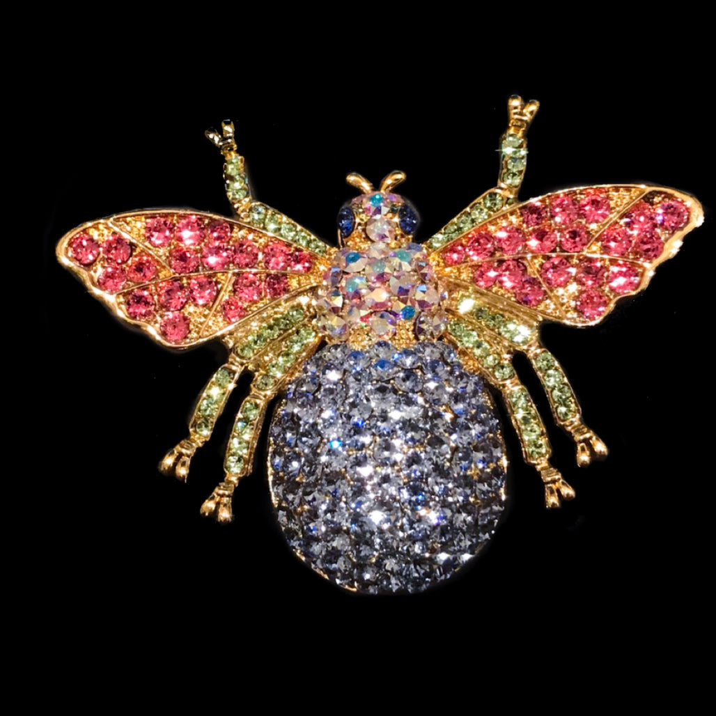 Bee Floral Ornament Featuring Swarovski © Crystals