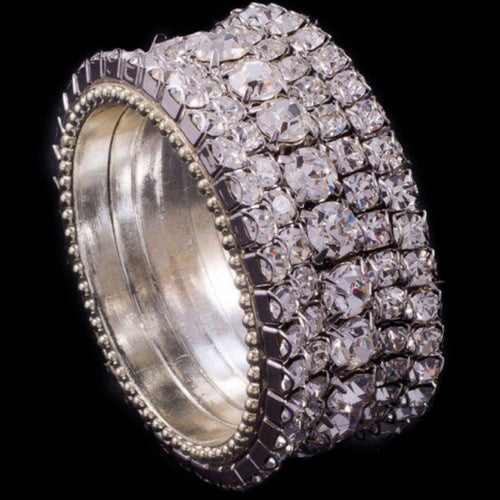Fully Crystallized Round Napkin Rings Featuring Swarovski © Crystals | Sets of 4