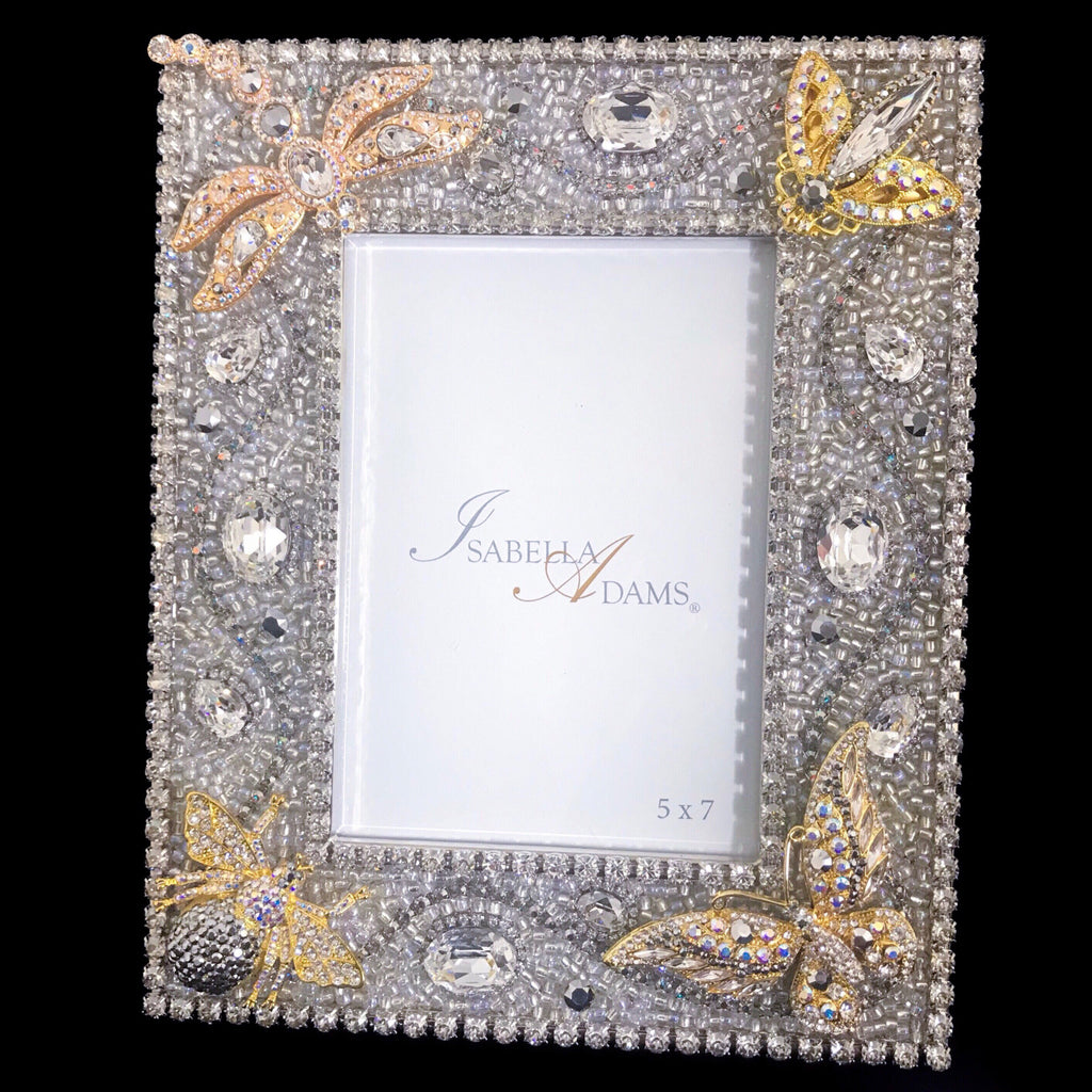 5 x 7 Silver Shade Crystallized Mixed Bug Picture Frame Featuring Swarovski © Crystals