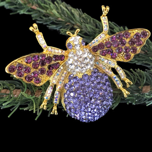 Bee Floral Ornament Featuring Swarovski ® Crystals
