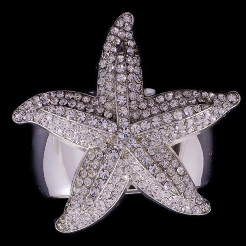 Starfish Napkin Ring Featuring Swarovski ® Crystal | Set of 4
