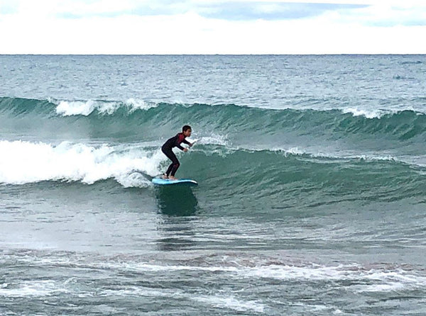 Hudson on a fun one in Kincardine, Lake Huron. Photo by Jeff Green.