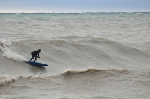 Geoff Ortiz on a solid day at Mini-Mavs, Lake Ontario. Photo by Katie Ortiz.