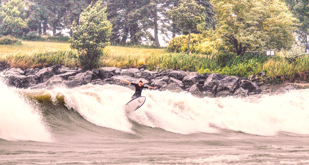 Kian surfing the Cove on his HydenShapes Hypto Krypto