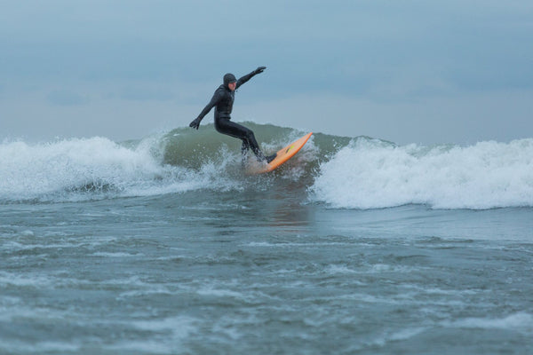 Mike Sandusky surfing Lake Erie