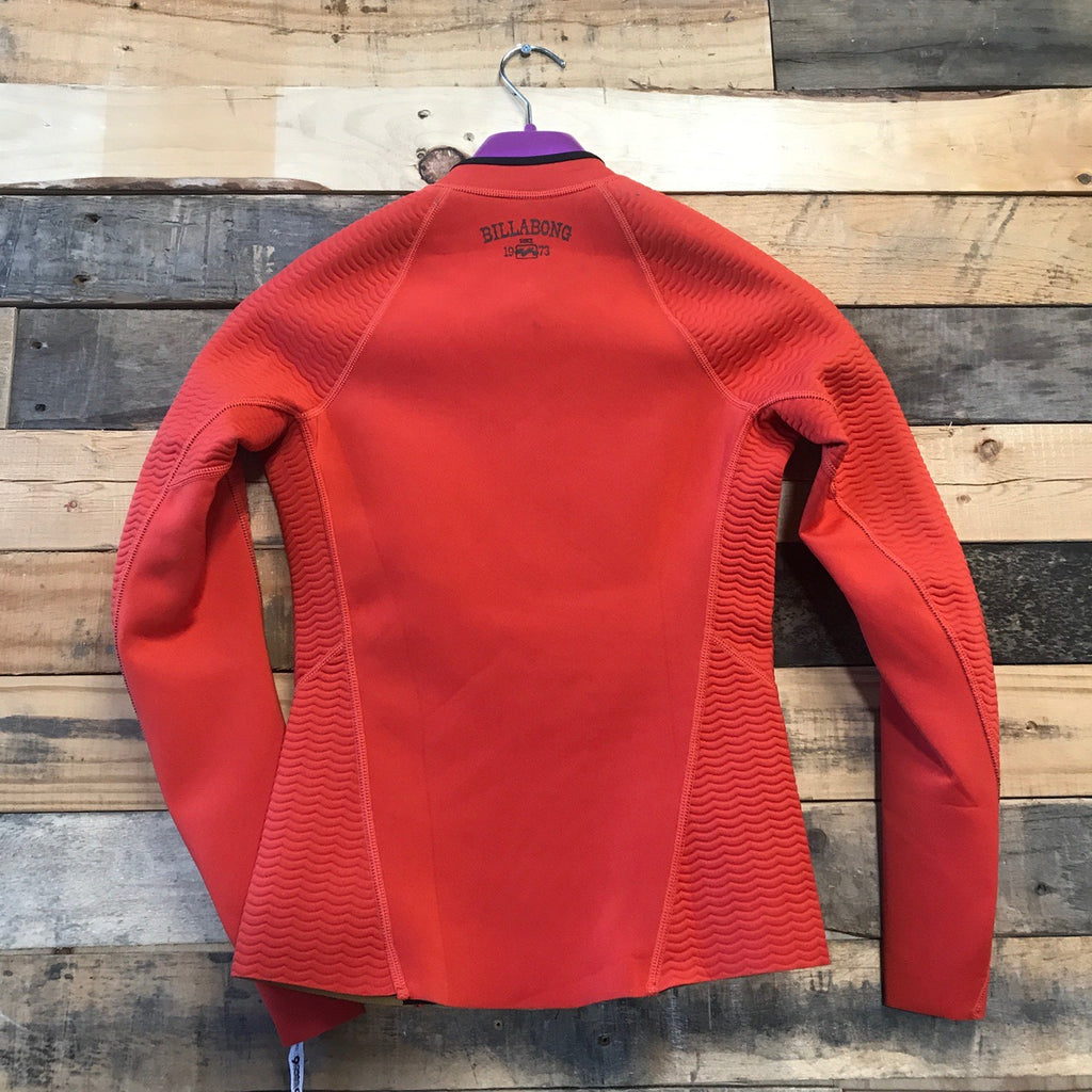 1mm Women's Billabong Top Peeky Wetsuit Jacket (Front Zip) - Samba - Size 6