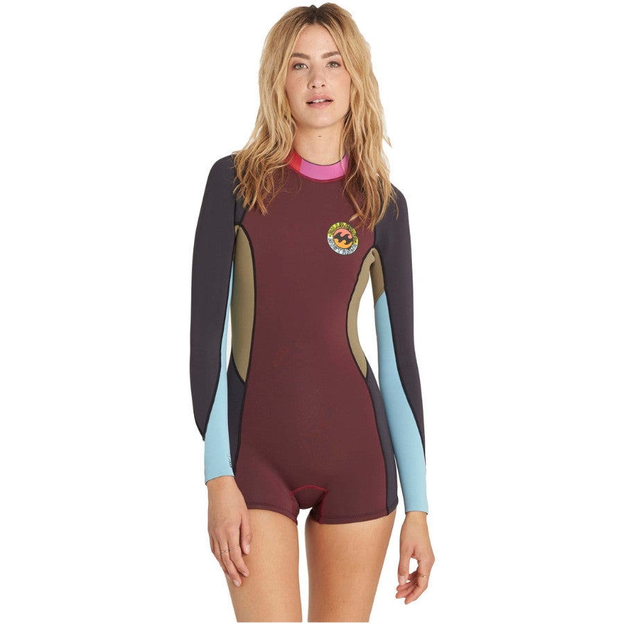 369af704ed 2mm Springsuit Billabong Womens Surf Capsule Fever L S Shorty Mulberry - Surf  Ontario