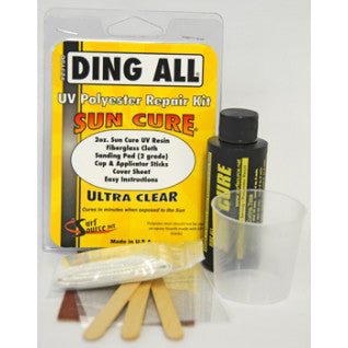 Ding Repair - Sun Cure® Polyester Repair Kit - Surf Ontario