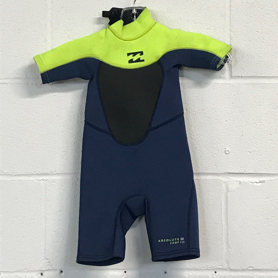 2mm Billabong Toddler Springsuit - Size 2 - USED*