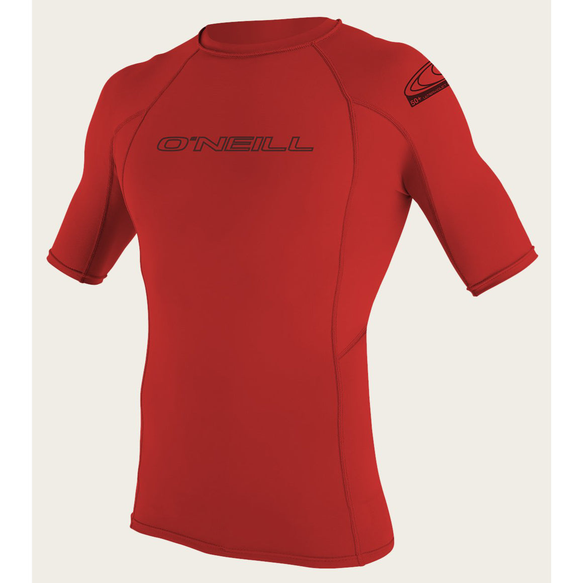 Mens Rashies O'Neill Basic Skins Short Sleeve Crew Rash RED