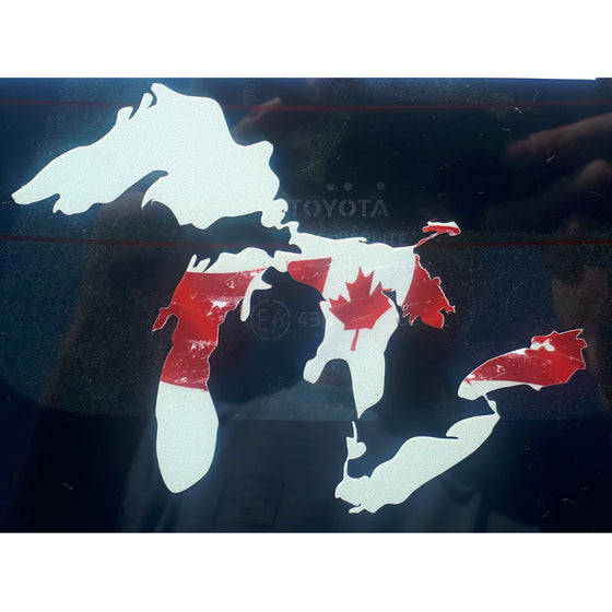 Stickers - Great Lakes Stoke - Canada - White