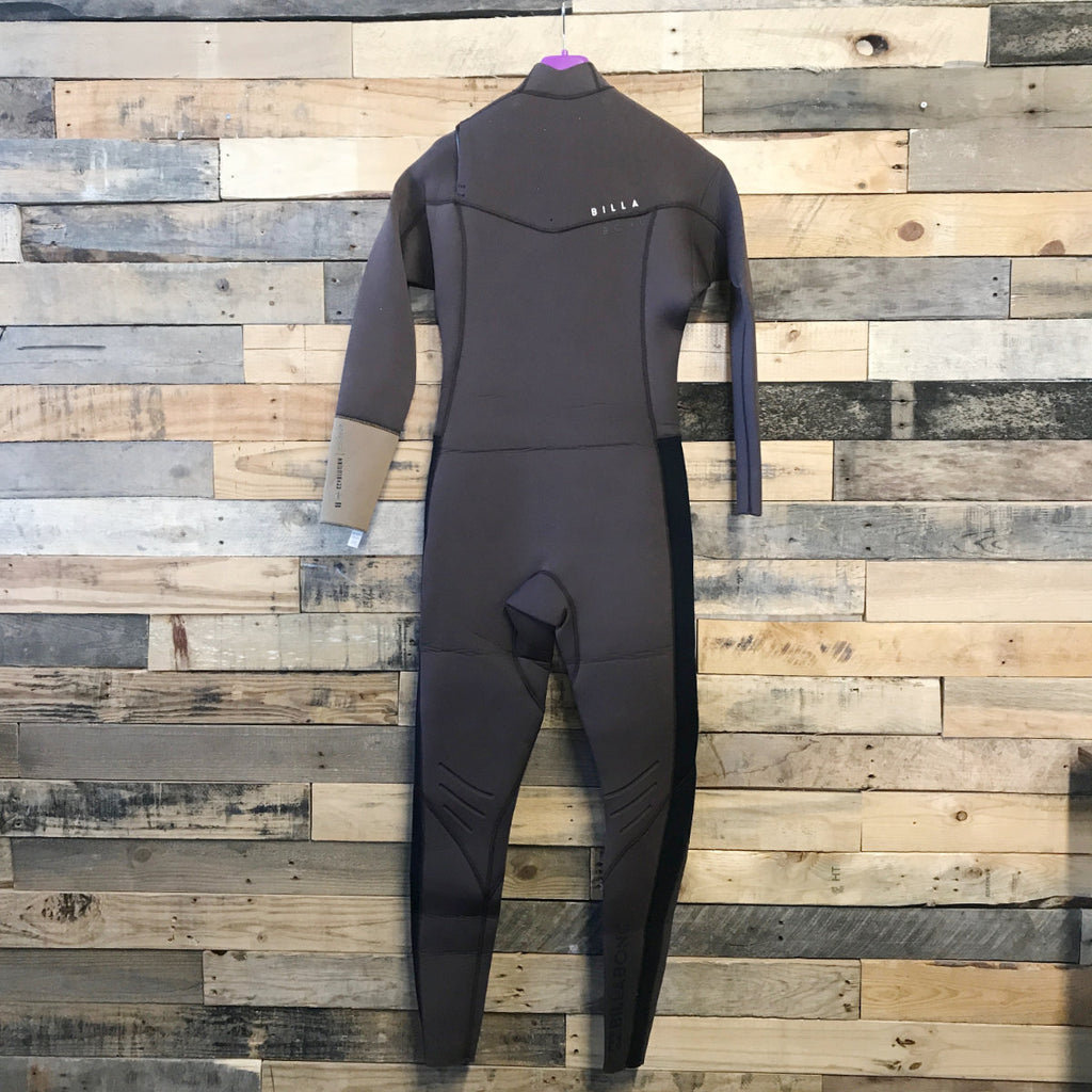 4/3 Men's Billabong Revolution Tri-Bong CZ Fullsuit - Brown - Size M