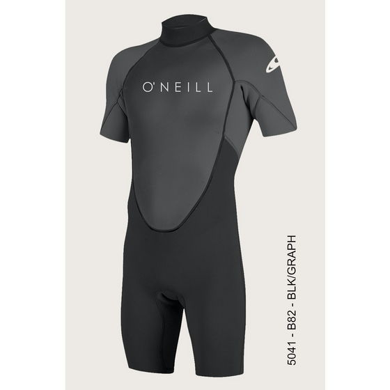 2mm Springsuit Mens O'Neill REACTOR II Back Zip S/S - Surf Ontario