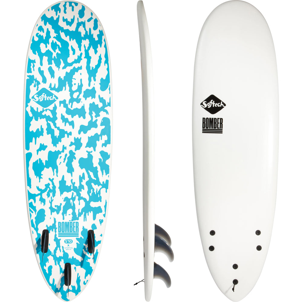 Softech Bomber FCS II 5'10 White/Blue