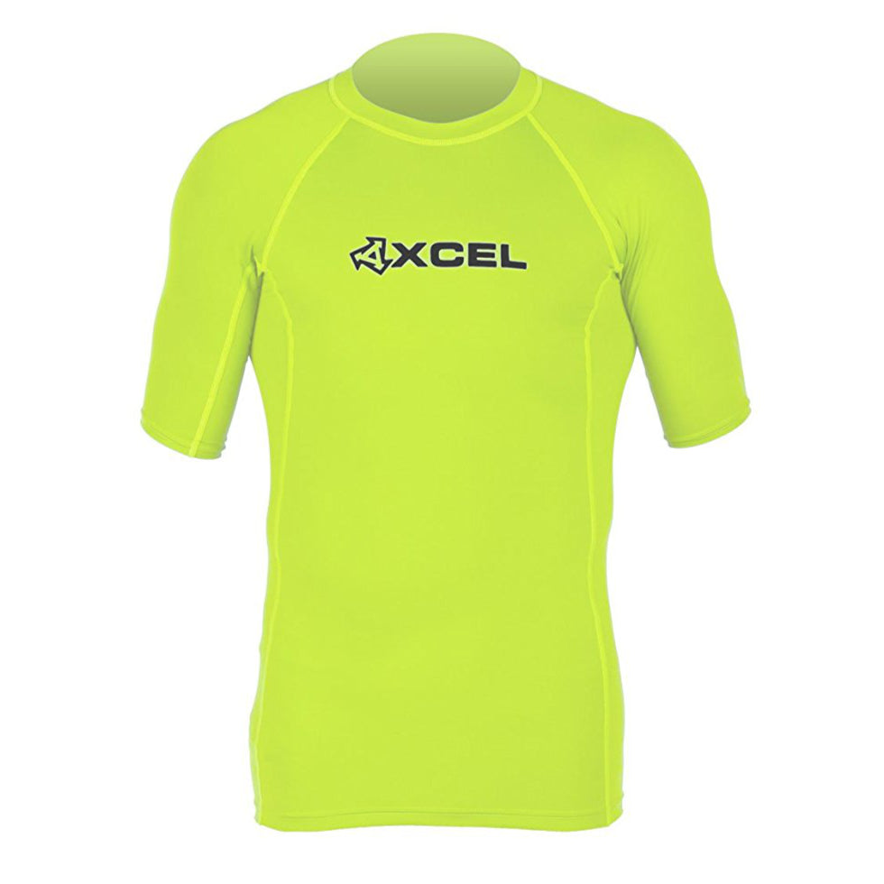 Mens Rashie Xcel Premium 6oz 4-way Stretch S/S Lime Green