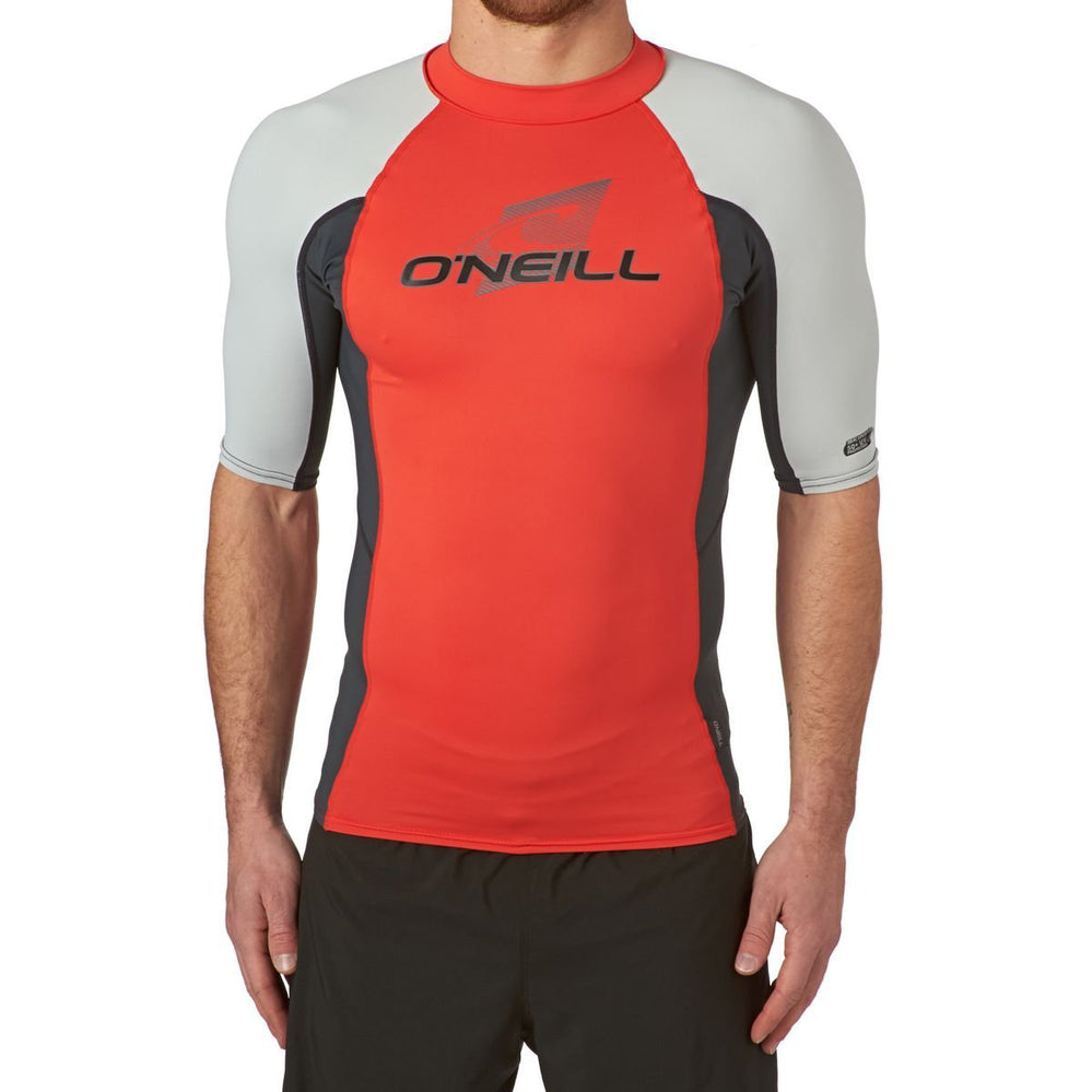 Mens Rashies O'Neill Skins Short Sleeve Crew Rash DEEP SEA/GRAPHITE / WHITE