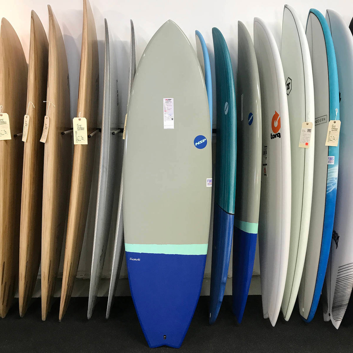 NSP 06 Elements HDT Fish 6'4 Grey