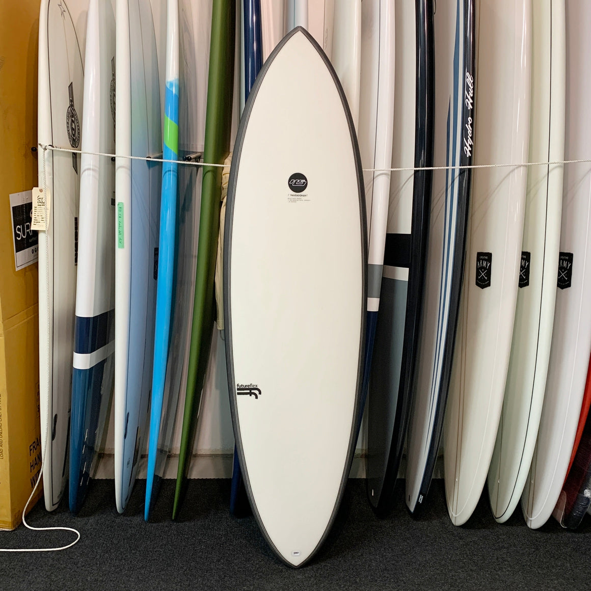 Haydenshapes HS Hypto Krypto 6'6 FF - 5 Futures - clear tint (0137)*