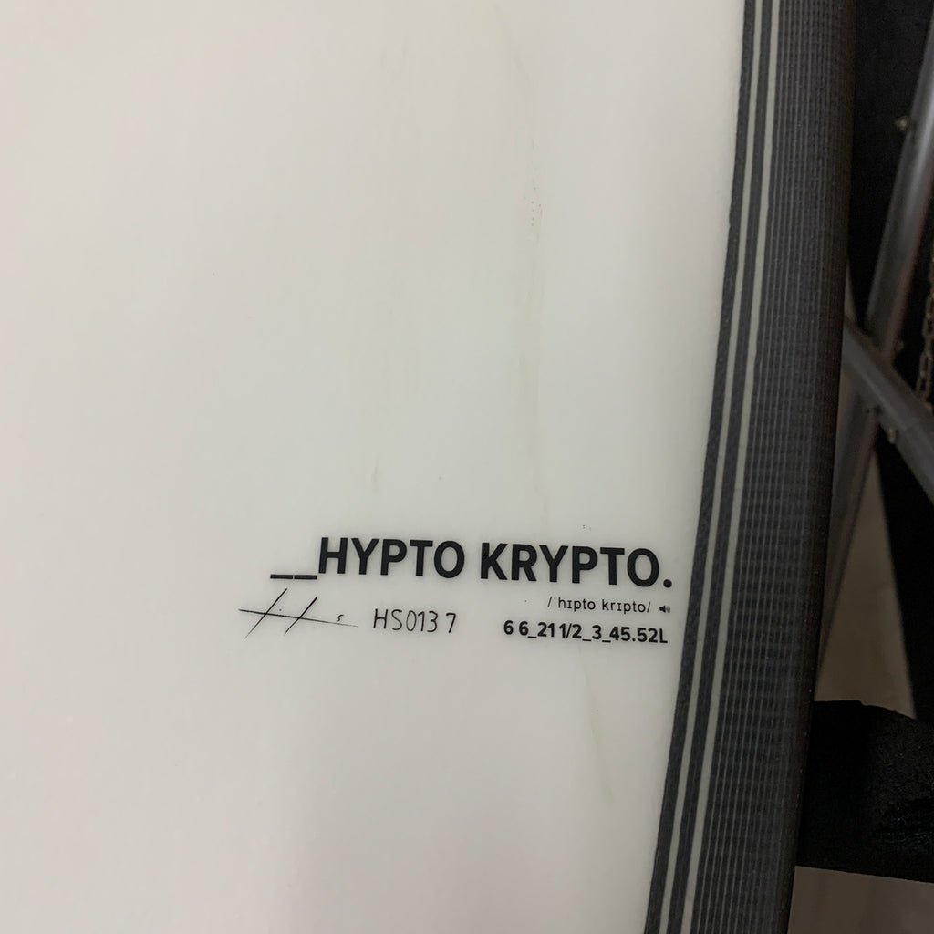 Haydenshapes HS Hypto Krypto 6'6 FF - 5 Futures - clear tint (0137)*  🔥