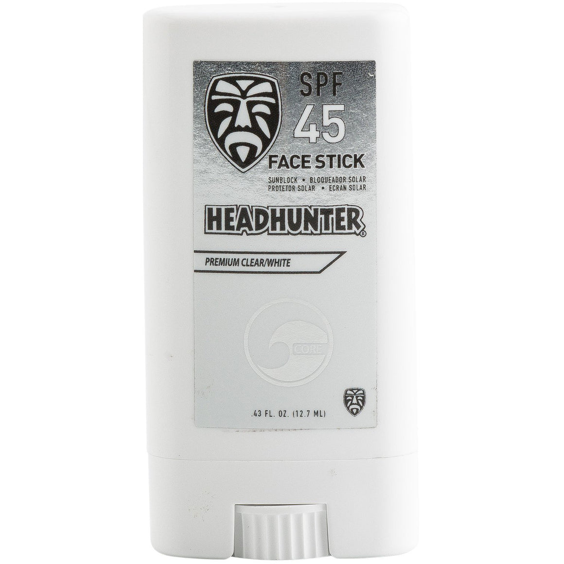 Sunscreen - Headhunter SPF 45 Clear Face Stick - Surf Ontario