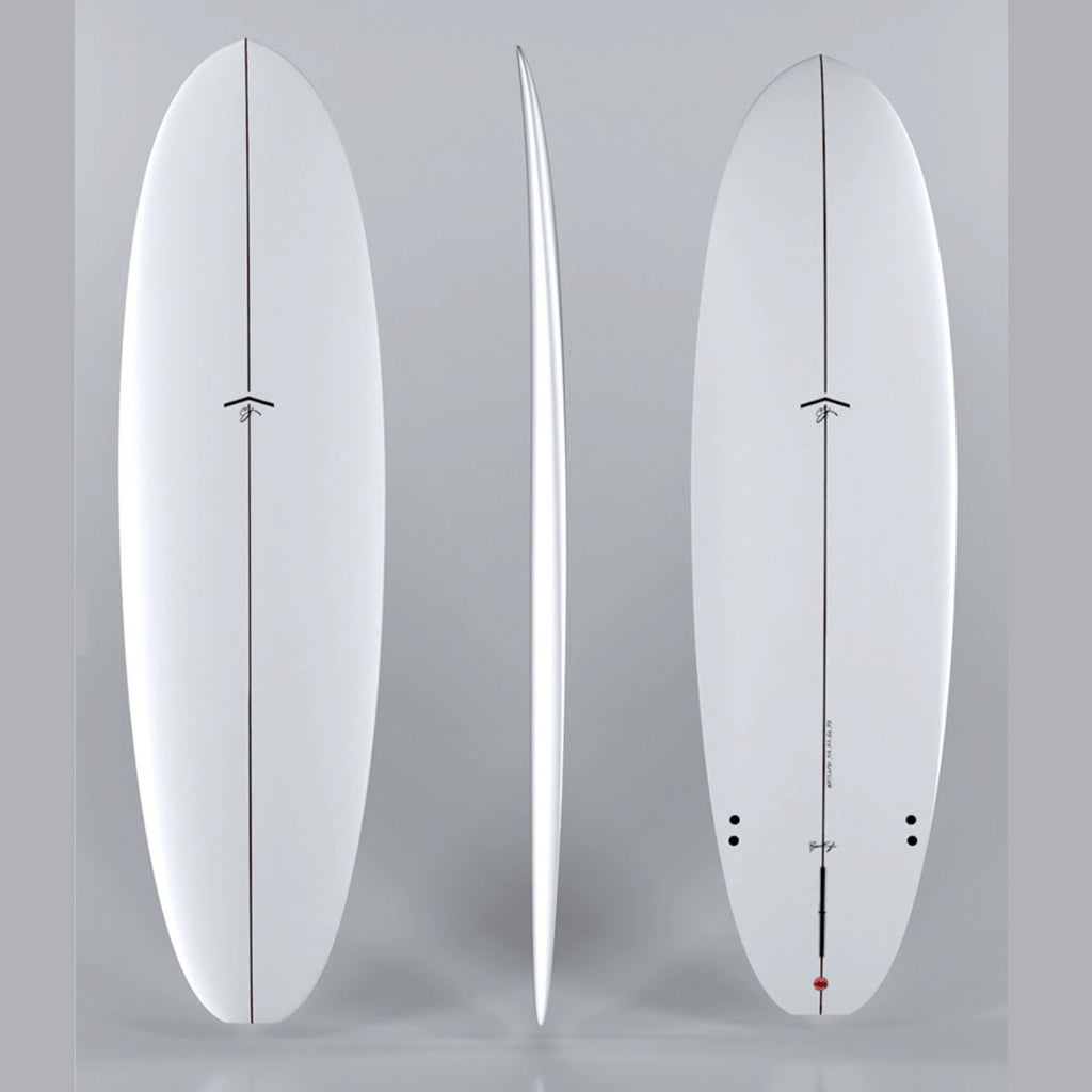 CJ Nelson Outlier 8'0 - White - single fin