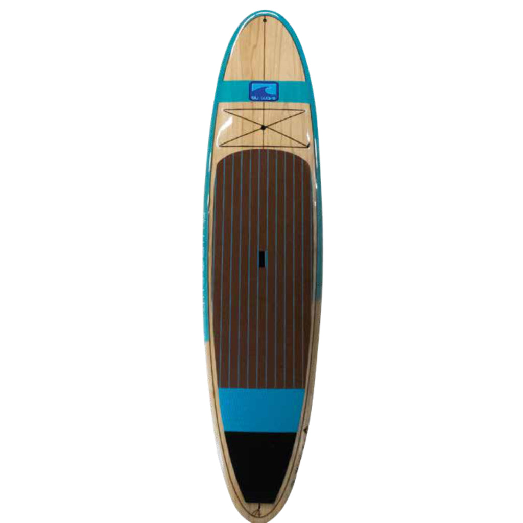 Blu Wave - The Big Woody 12.0 - Aqua/Paulownia Wood top and bottom **PREORDER FOR SPRING 🌼 **