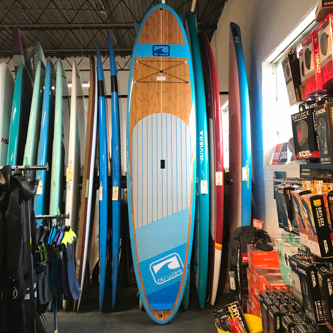 Blu Wave - The Big Woody 12.0 - Neon Blu Bamboo