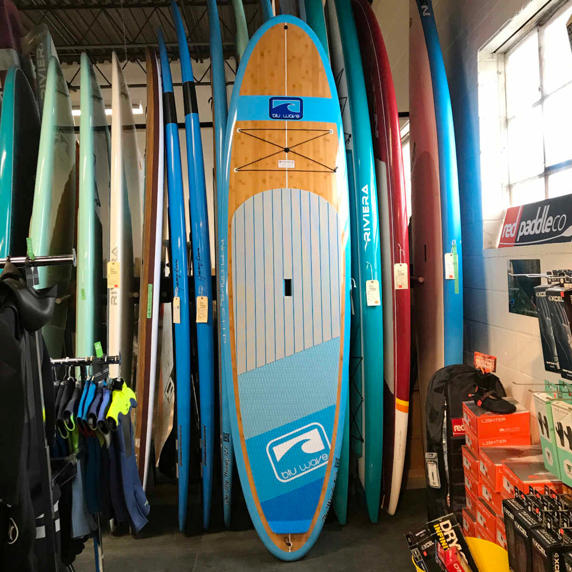 Blu Wave - The Woody 10.6 - Neon Blu Bamboo SUP