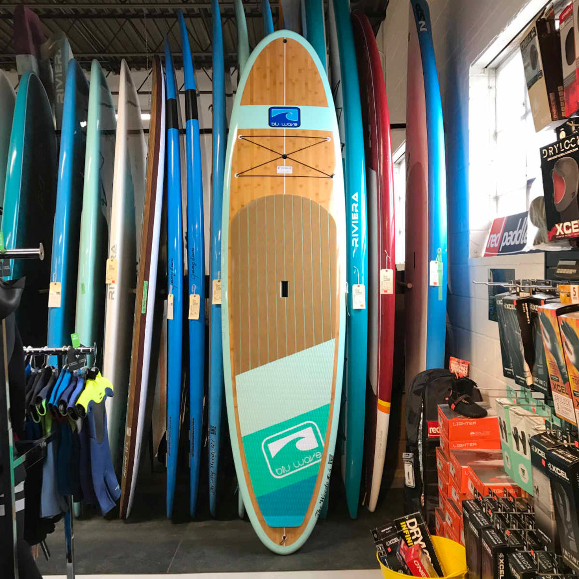 Blu Wave - The Woody 10.6 - Sea Foam Bamboo SUP
