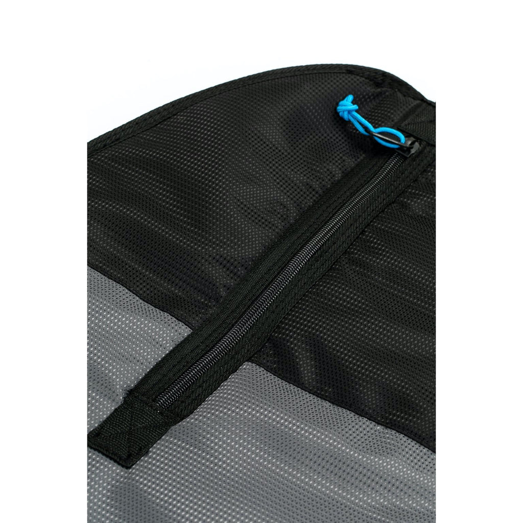 Creature of Leisure board bag - Longboard Lite w/ fin slot: Charcoal Cyan