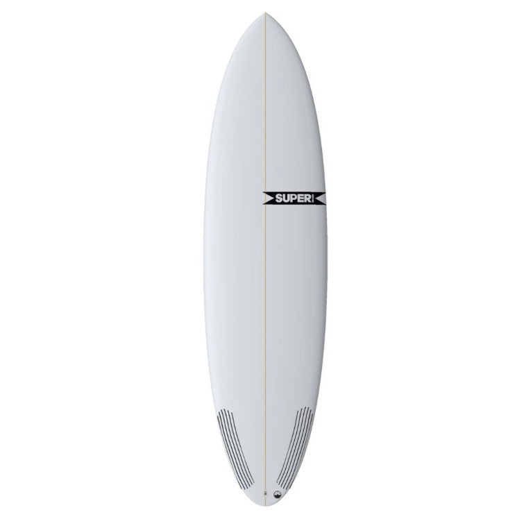 "Super Brand The Bigfoot 6' 8"" - 3-FUT - Colour CLEAR - PU - Carbon tail - Surf Ontario"