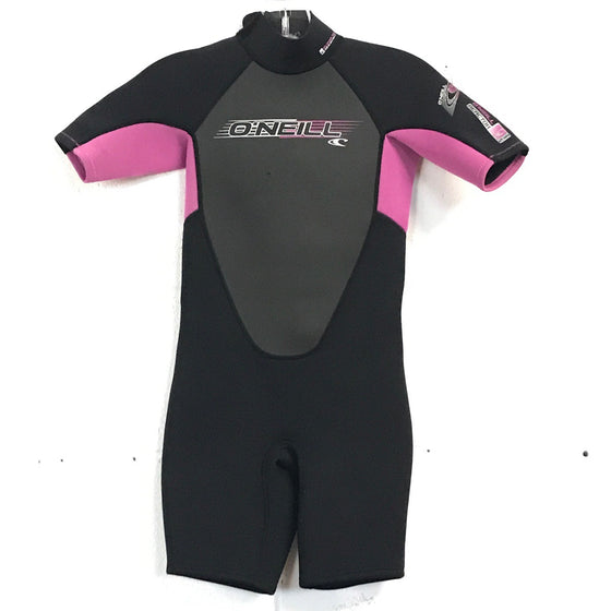 2mm O'Neill Youth Springsuit  Pink/Black - Size 10 - USED*