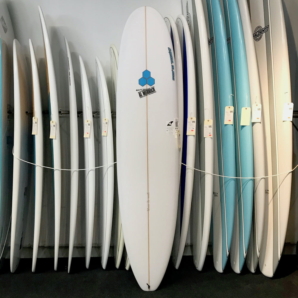 Channel Islands Water Hog 8'0 - Flo Blue Hex - 3 Fin FUT Poly - Surf Ontario