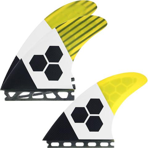 Futures THRUSTER - Channel Islands FUT-RTM-TECH2 3-fin (L) Yellow/Carbon/White TECH 2 Large