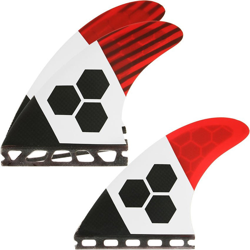 Futures THRUSTER - Channel Islands FUT-RTM-TECH2 3-fin (S) Red/Carbon/White TECH 2 Small