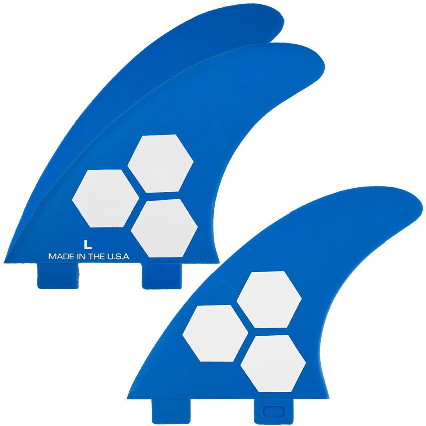 FCS/2 tab 3 Fin - Channel Islands set 2-tab FRP 3-fin Blue (L)