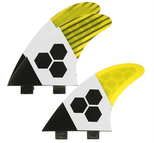 FCS/2 tab 3 Fin - Channel Islands RTM Tech2 Yellow/Carbon/White (L) - Surf Ontario