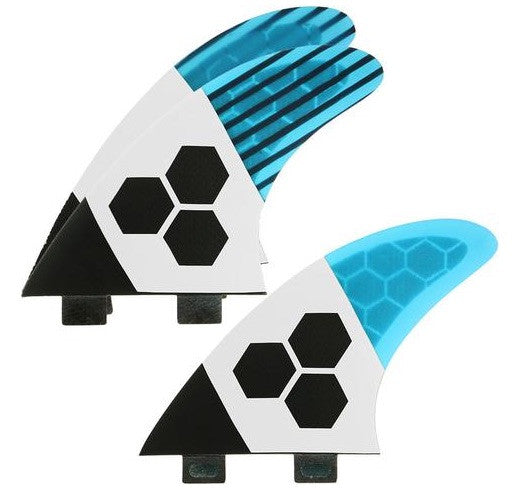 FCS/2 tab 3 Fin - Channel Islands RTM Tech2 3fin Blue/Carbon/White (M) - Surf Ontario