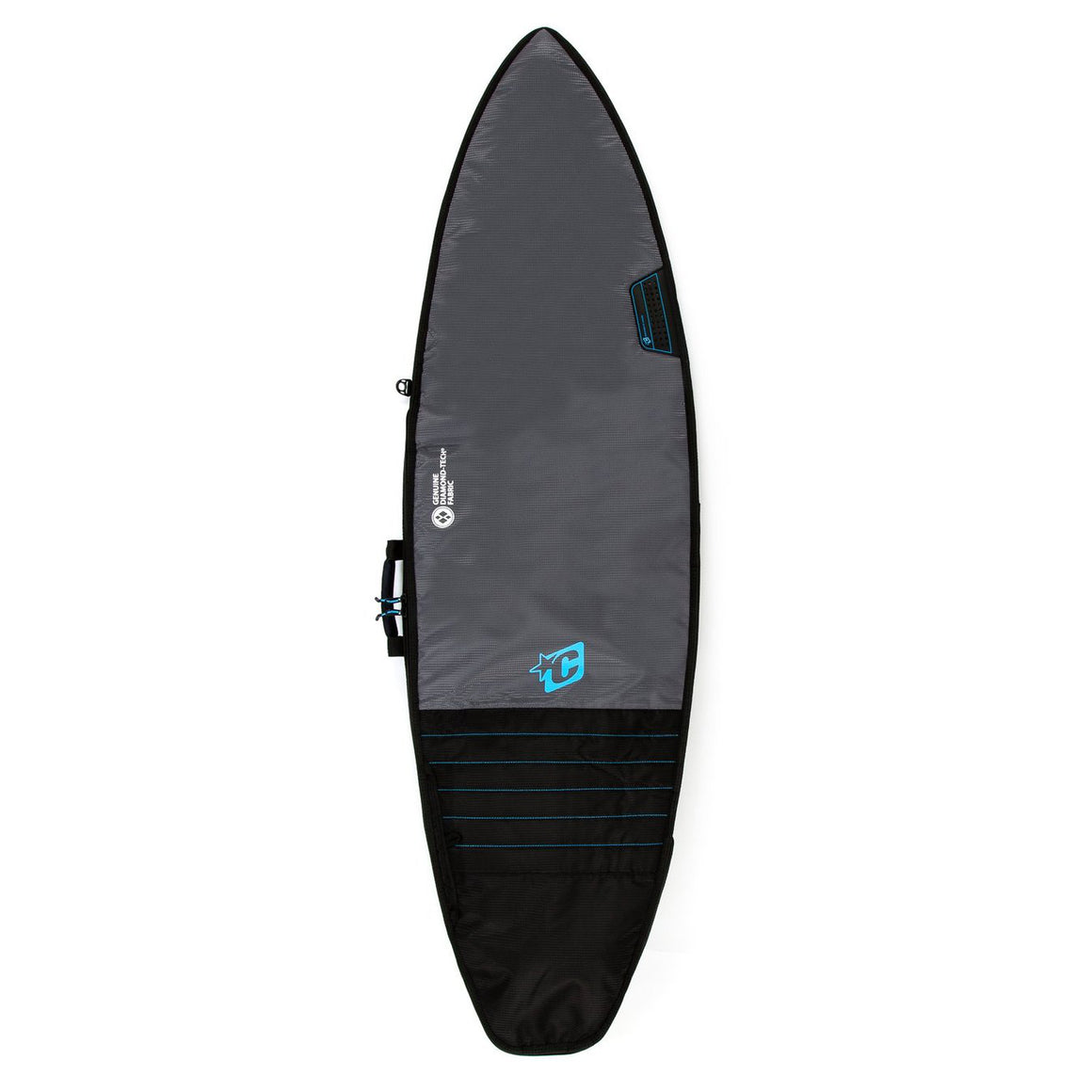 Creature of Leisure board bag - Shortboard Day Use: Charcoal Cyan