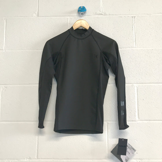 0.5mm Hurley Men's Pro Max Surf Shirt Long Sleeve - Black 10***