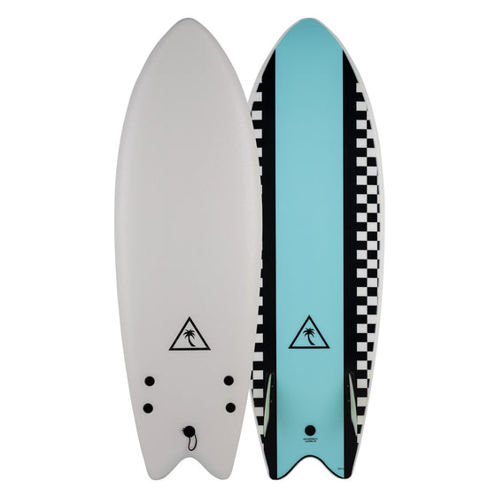 Catch Surf Heritage 5'6 Retro Fish - Twin Fin - White/Light Blue 20