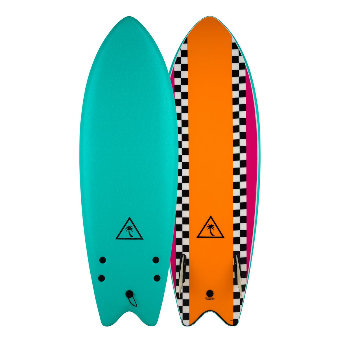 Catch Surf Heritage 5'6 Retro Fish - Twin Fin - Turquoise/Orange 20