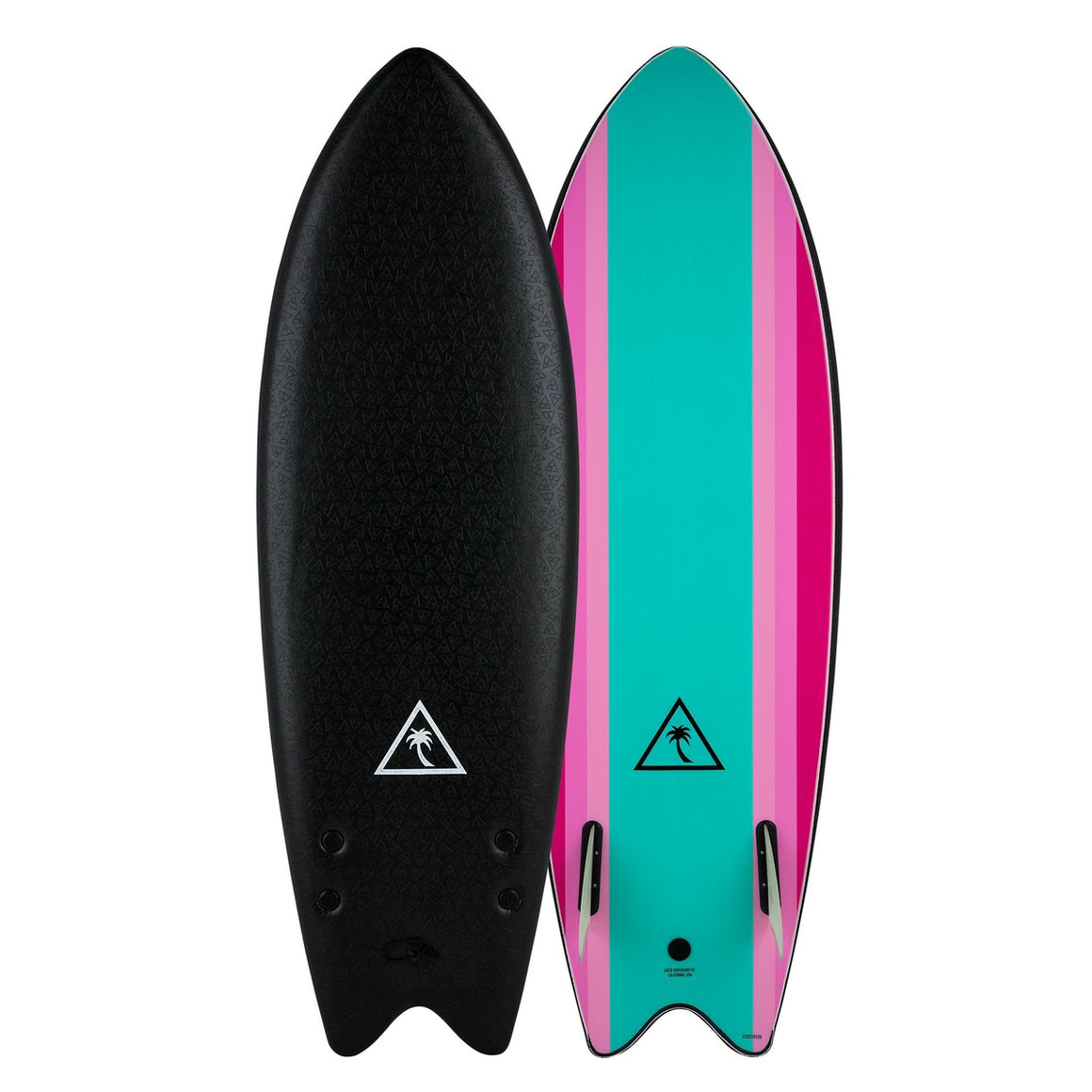 Catch Surf Heritage 5'6 Retro Fish - Twin Fin - Black/Turquoise 20